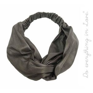 **2 For 20** Metallic Charcoal Knotted Headband